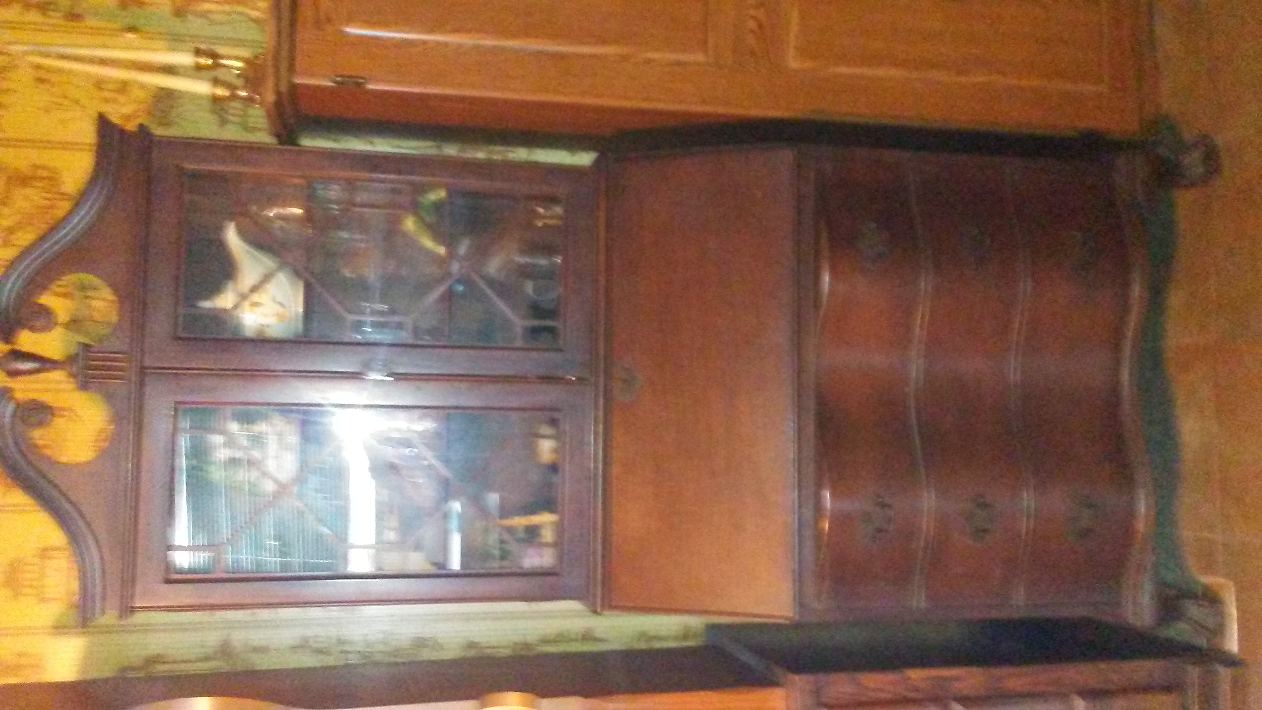 hutch item antique china mcdonald estate cabinet sale img