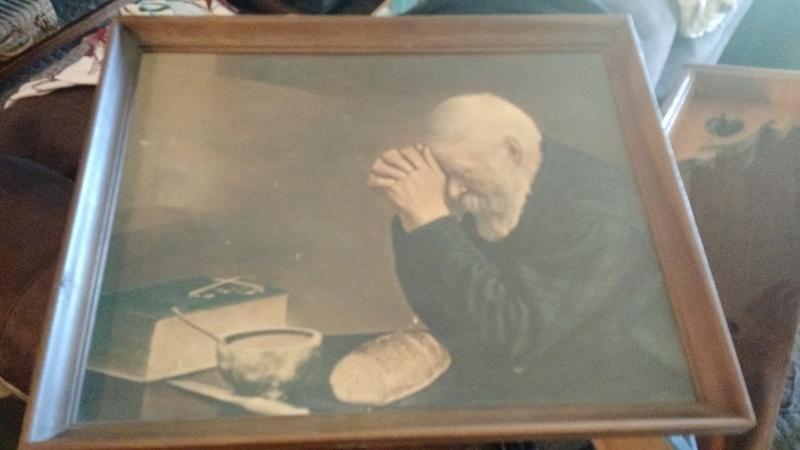 Daily Breadold Man Praying At Value