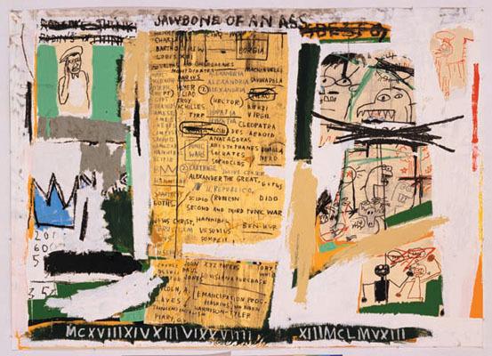 Jean Michel Basquiat Jawbone of an Ass