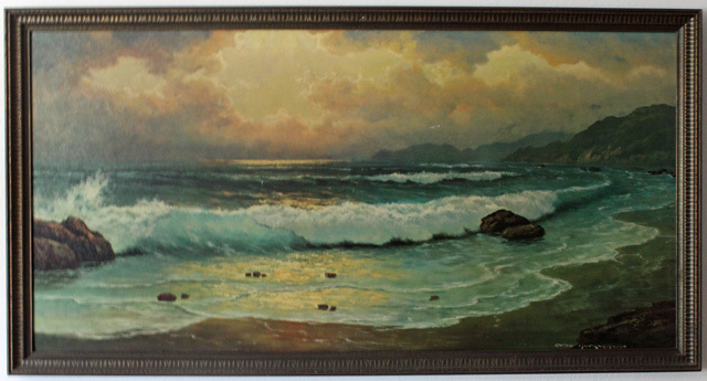 Anton Gutknecht Waves On A Beach Landscape Oil Painting Value