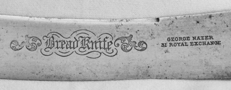 Bread Knife, George Nazer. 31 Royal Exchange, London