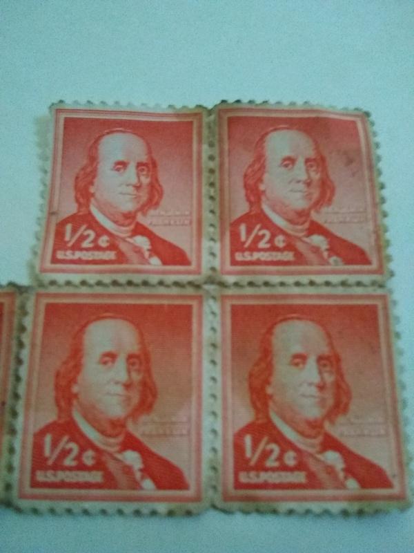U S Postage Stamp Benjamin Franklin Half Cent