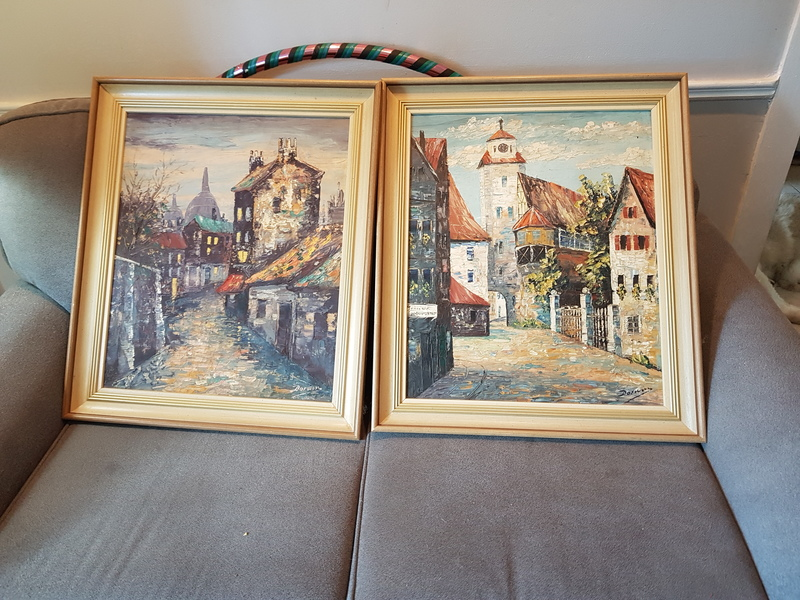 original oil paintings by Sir Robin Dawin-signed