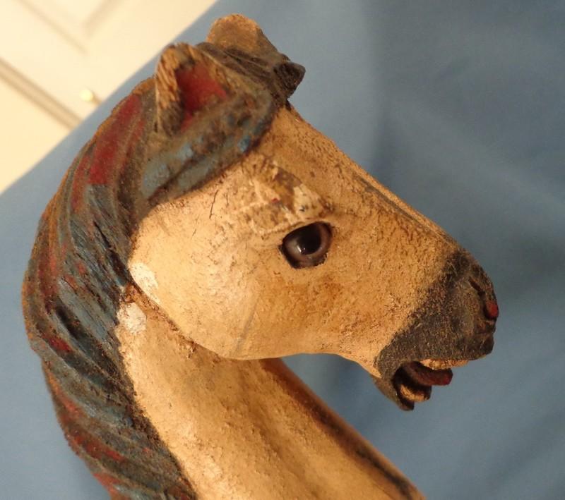 Wooden Horse on glider, salesman sample?