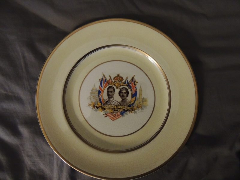 DINNER PLATE JOHNSON BROTHERS GEORGE VI AND ELIZABETH I CORONATION C 1939 ... & Dinner plate johnson brothers george vi and elizabeth i coronation c ...