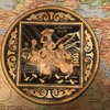 Item images 2f1512284093637 yywmgcho88i 69669e9cc3cf4d997fbc0540d571f60d 2f2017 goya man of la mancha 4 inch brass edged plate with silver backing