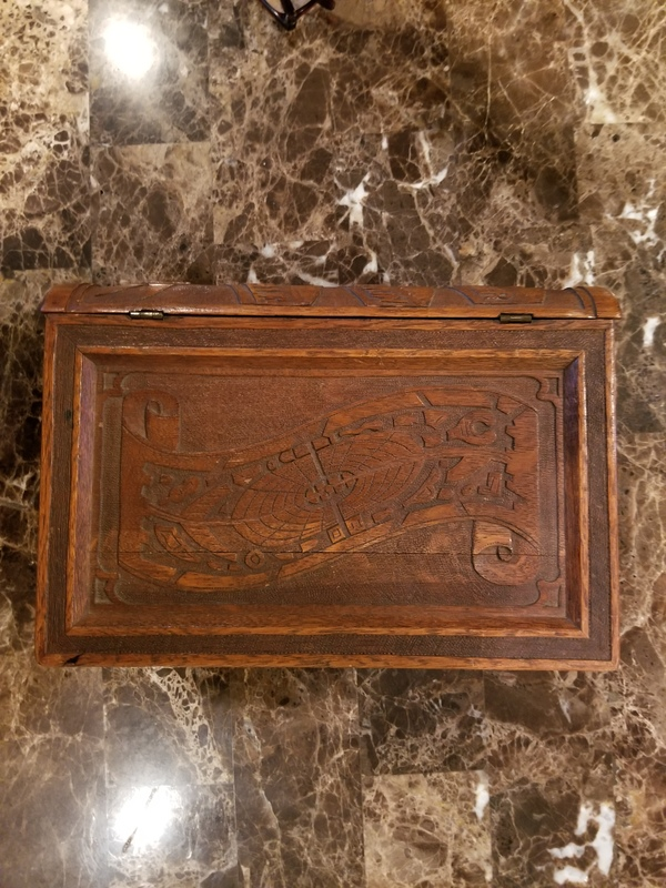 1867 Paris World's Fair wooden souvenir book