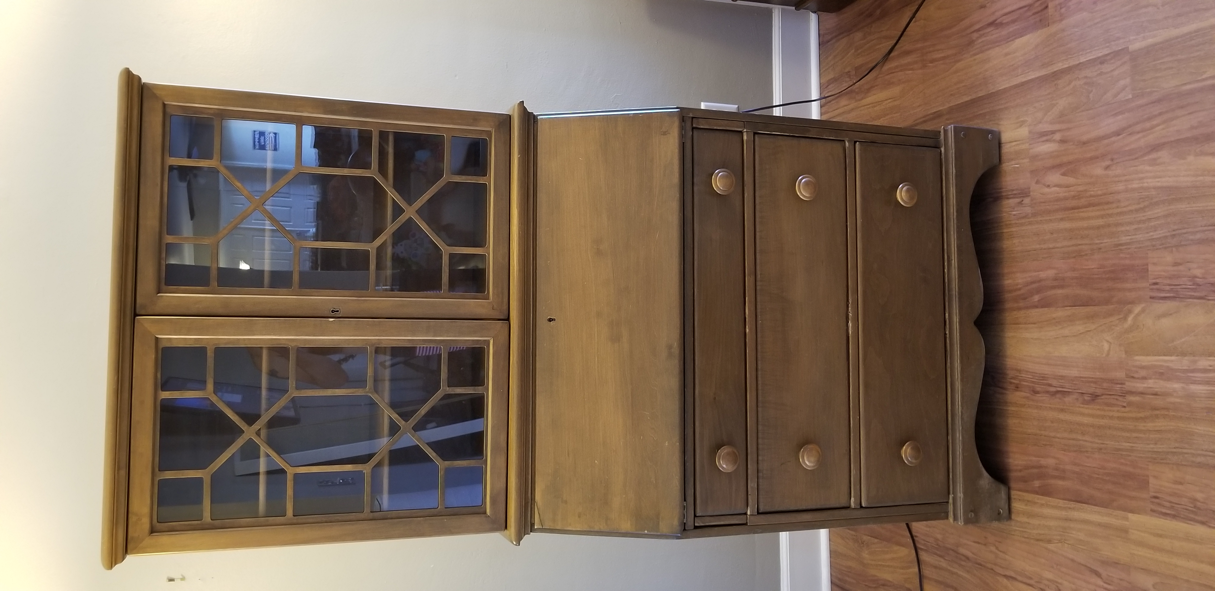 consignment antique secretary hutch ballard