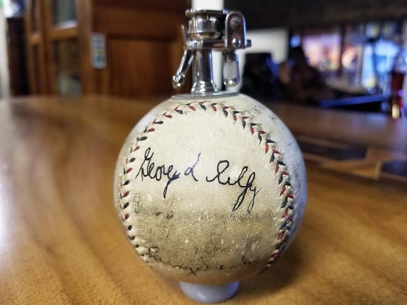 1931 Major League All Stars vs Japan Team Signed Baseball Lighter  with Original Box (Player's Ball)