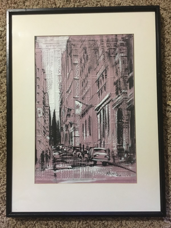 New York Post AMEX Closing Stock Prices Print/Painting 1965
