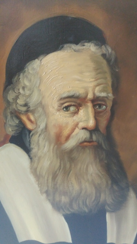RABBI PAINTING FROM 18TH CENTURY