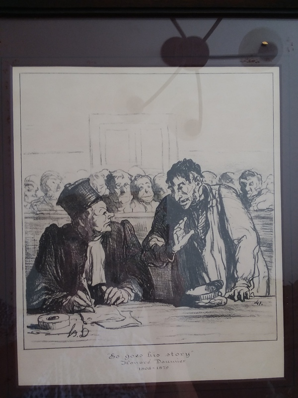 So Goes His Story Honore' Daumier