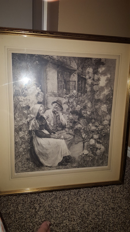 Frank  Bramley signed painting
