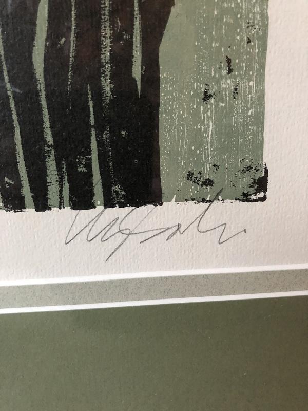 """Harry Wysocki original lithograph """"Owl""""  201/500"""