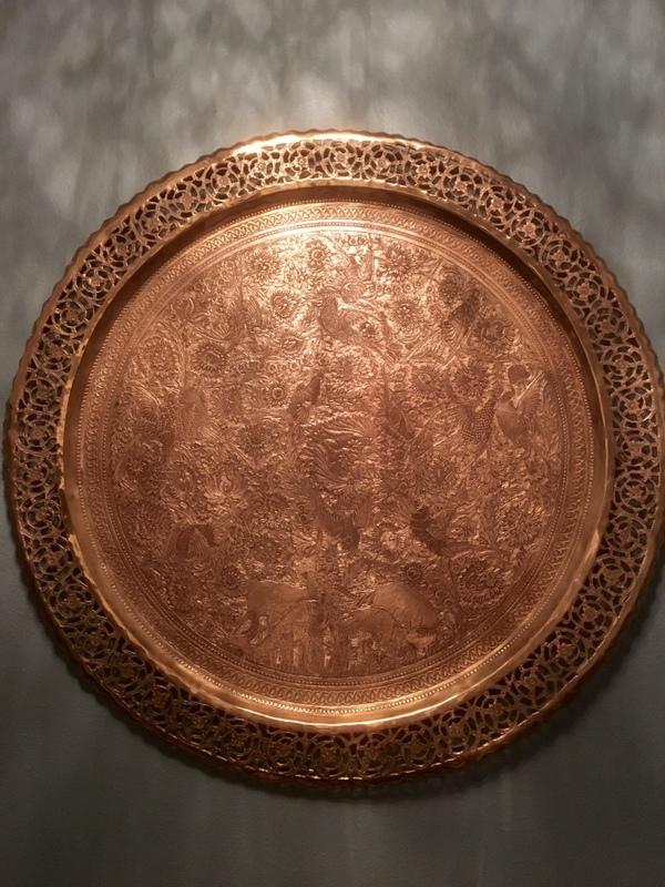 Turkish(?) Copper Tray