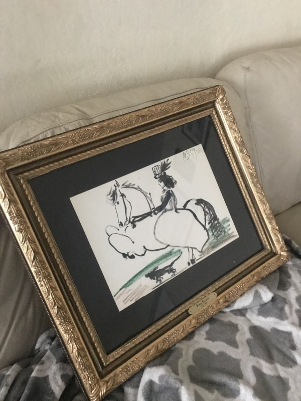 Woman on horse by PICASSO